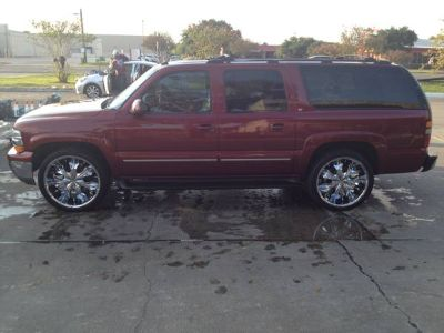 02 CHEVY SUBURBAN LOADED w 24s ONLY $6950 OBO