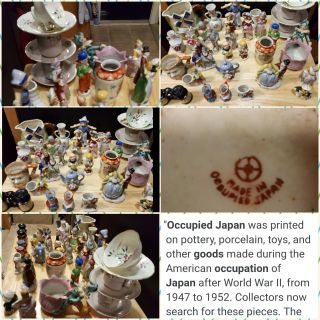 35 pieces of Occupied Japan collectables .