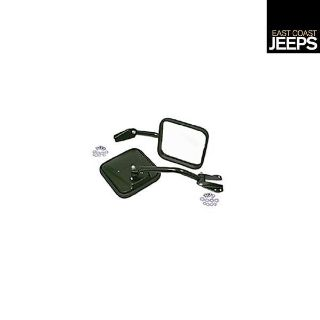 Find 11001.03 RUGGED RIDGE Side Mirrors with Convex Glass, Black, 55-86 Jeep CJ motorcycle in Smyrna, Georgia, US, for US $41.73