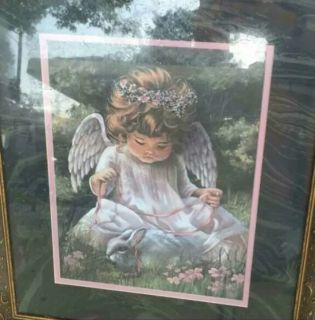Angel baby framed picture