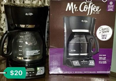 #Coffee Maker, 12 cup, Mr Coffee, New, in Box,