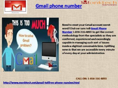 Reset Gmail password with @Gmail Phone Number 1-850-316-4893