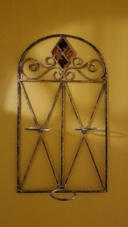 "Iron candle or plant holder for inside - outside 28"" 16"""