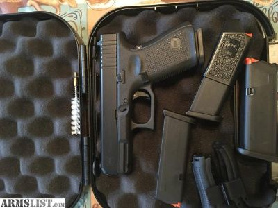 For Sale: Glock 19 gen5 in box less than box of ammo threw it