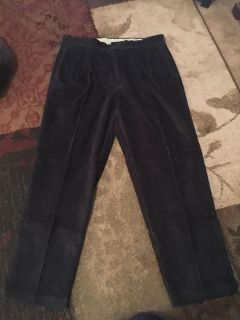 Roundtree & York 38x32 dark grey corduroy pants - ppu (near old chemstrand & 29) or PU @ the Marcus Pointe Thrift Store (on W st)