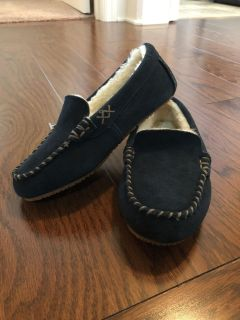 Navy Lands End Slippers