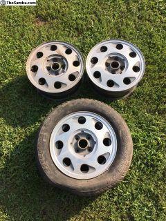 VW 14 inch OEM Silverstone Teardrops set of 3