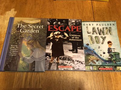 Set of 3 books - used - porch pick up