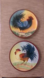 Rooster Plates set of 2
