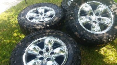 20 inch Dodge Chrome wheels with tires