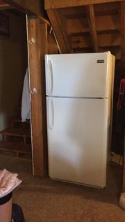 Like NEW used lightly as second fridge 18 cubic ft Frigidaire refrigerator- purchased for $388 at NFM