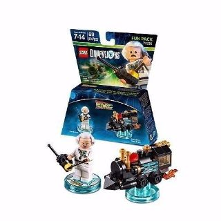 "LEGO DIMENSIONS FUN PACK #71230 ""BACK TO THE FUTURE"" ""DOC BROWN"" & ""TRAVELING TIME TRAIN"""