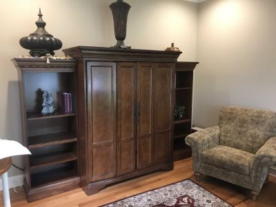 Storage Cabinet, Desk, Bookcases