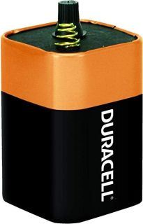 NEW-Duracell - CopperTop 6V 908 Alkaline Lantern Batteries with Spring Terminals - long lasting, 6 V