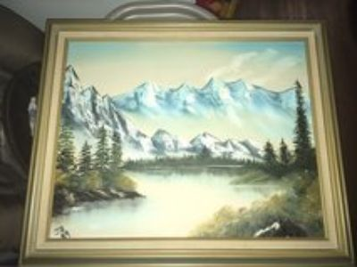 gorgeous framed painting