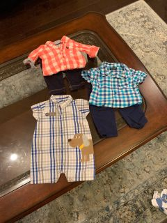 Newborn plaid lot