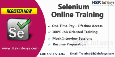Selenium Online Coaching ,job support + Free real-time experience by H2kinfosys.