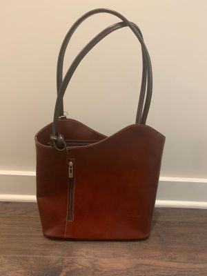 New Purse Convertible Backpack Italian Leather