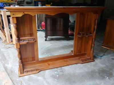Solid Wood Hutch Top from Dresser
