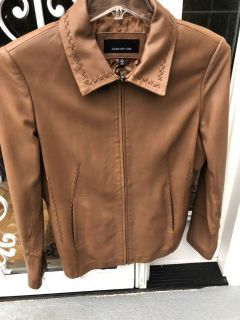 Natural leather jacket by jones New York