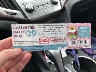 Unlimited state fair carnival ride plus adult pass