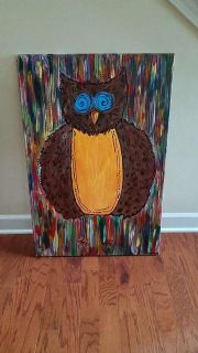 Colorful Owl Canvas