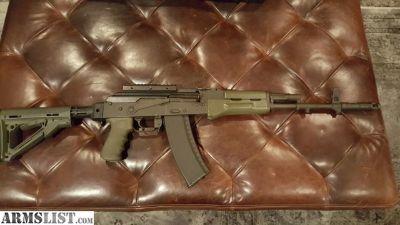 For Sale: Polish AK-74 OD green furniture Magpul hogue