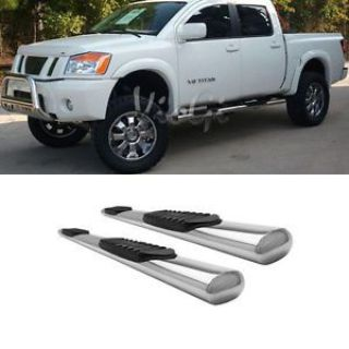 """Sell Fit 04-16 Nissan Titan/XD Crew Cab (4 Full Size Doors) 4"""" S/S Side Step Nerf Bar motorcycle in El Monte, California, United States, for US $198.99"""
