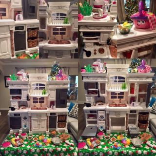 Kid s Up-Cycled Farmhouse Play Kitchen & Pretend Accessories & Play Food