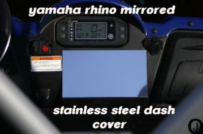 Buy Yamaha Rhino Center Dash Blank Cover Plate stainless steel motorcycle in Elmwood Park, Illinois, United States, for US $17.95