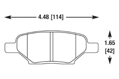 Buy HAWK HB525F.540 - 2005 Chevy Cobalt Black Ferro-Carbon Rear Brake Pads motorcycle in Chino, California, US, for US $71.54