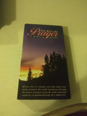 The role of Prayer VHS movie good condition