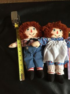 Raggedy Ann & Andy Dolls with Books