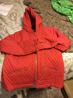 Quilted Red Jacket, size M