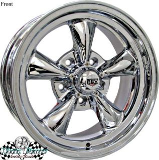 """Purchase 15"""" 15x7-15x8 CHROME NEW REV CLASSIC 100 WHEELS RIMS FOR CHEVY BEL AIR 1959 1960 motorcycle in Spring, Texas, United States, for US $659.00"""