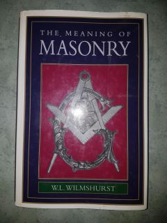The Meaning of Masonry hardcover book $4