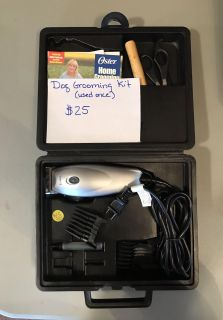 Dog grooming kit by Oster $25