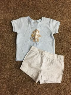 Cuddle Bear Collection Boy s Outfit (Size 3-6 Months)