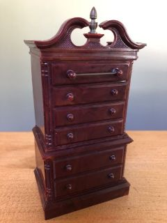 Chippendale Style Highboy Dresser Bank