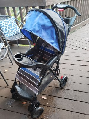 Blue Sport Contractable Stroller