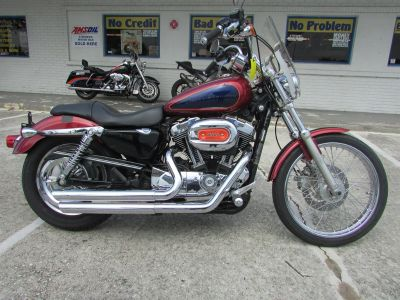 2009 Harley-Davidson XL1200C Cruiser (Red)