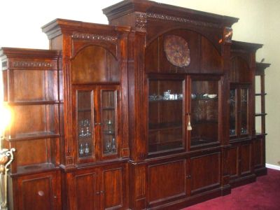 Vintage 5-Piece Cherry Wood Wall Unit - A Must See! - Offers Welcomed