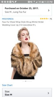 Brand new never worn in original packaging faux fur shawl wrap stole shrug. Soft and beautiful.
