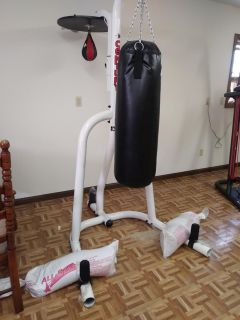 Century brand punching bag and speed bag with stand