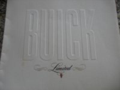 "Original 1940 Buick ""Limited"" large color Sales Brochure"