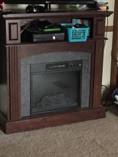 Remote electric fireplace/ tv stand