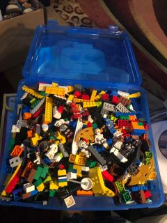 Huge carry case with thousands of legos.