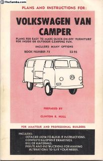 Book Plans and Instructions for VW Bus Camper