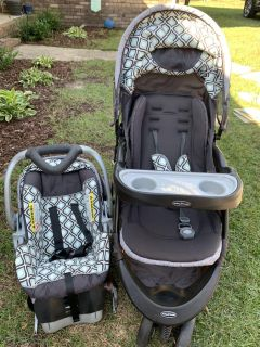 Stroller and Car seat with base set