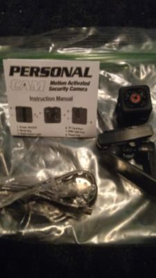 New Personal Motion Activated Security Camera w NIGHT VISION records n take pictures